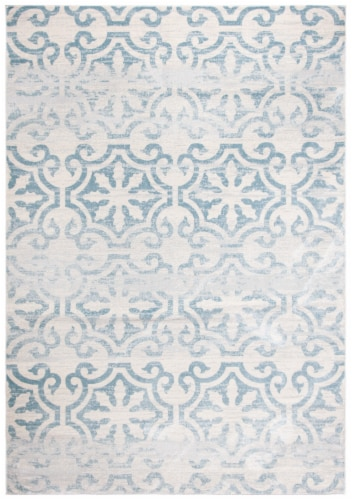 Martha Stewart Isabella Rug - Turquoise/Ivory Perspective: front