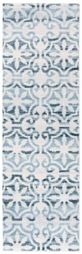 Safavieh Martha Stewart Collection Isabella Floor Runner Rug - Navy/Ivory Perspective: front