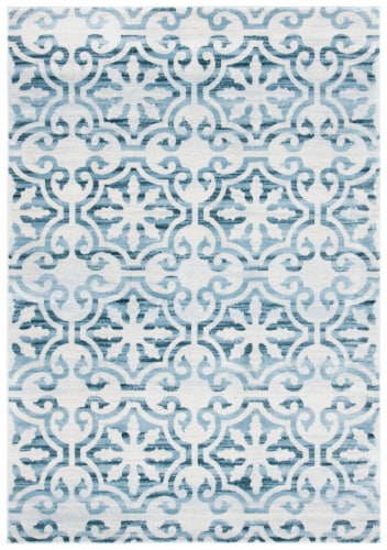 Martha Stewart Collection Isabella Area Rug - Navy/Ivory Perspective: front