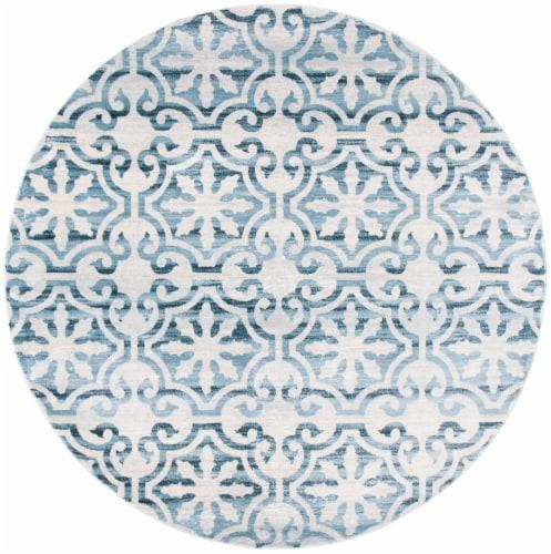 Safavieh Martha Stewart Collection Isabella Round Rug - Navy/Ivory Perspective: front