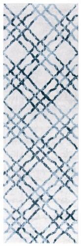 Safavieh Martha Stewart Collection Isabella Floor Runner Rug - Ivory/Turquoise Perspective: front