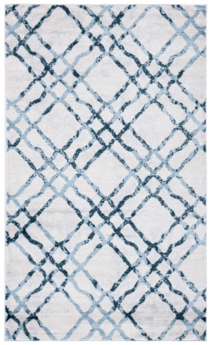 Safavieh Martha Stewart Collection Isabella Accent Rug - Ivory/Turquoise Perspective: front