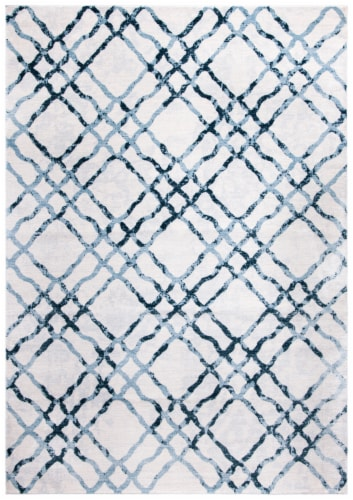 Martha Stewart Collection Isabella Accent Rug - Ivory/Turquoise Perspective: front
