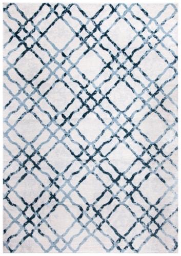 Safavieh Martha Stewart Isabella Rug - Ivory/Turquoise Perspective: front