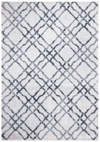 Martha Stewart Isabella Rug - Ivory/Grey Perspective: front