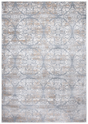 Martha Stewart Isabella Rug - Silver/Ivory Perspective: front