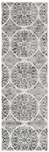 Martha Stewart Isabella Runner Rug - Charcoal / Ivory Perspective: front