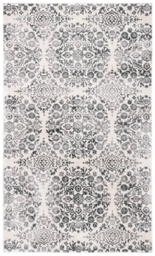 Martha Stewart Isabella Area Rug - Charcoal / Ivory Perspective: front