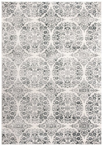 Martha Stewart Isabella Rug - Charcoal/Ivory Perspective: front