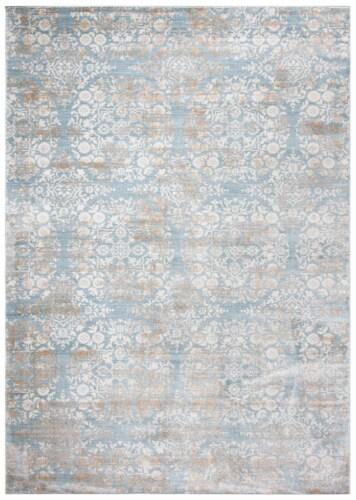 Martha Stewart Isabella Rug - Denim Blue/Ivory Perspective: front