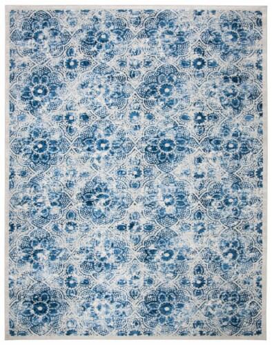 Martha Stewart Brentwood Rug - Cream Blue Perspective: front