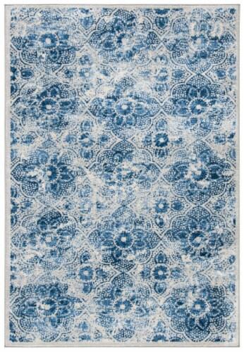 Safavieh Martha Stewart Brentwood Area Rug - Cream / Blue Perspective: front