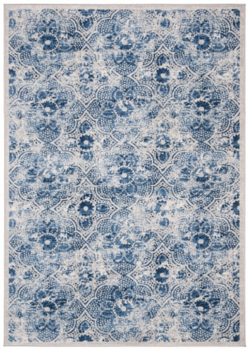 Martha Stewart Brentwood Area Rug - Cream/Blue Perspective: front