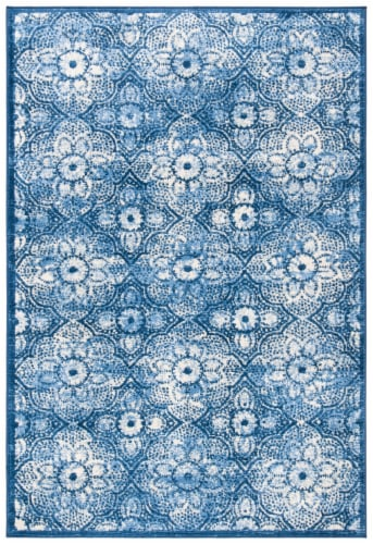 Martha Stewart Brentwood Area Rug - Navy / Creme Perspective: front