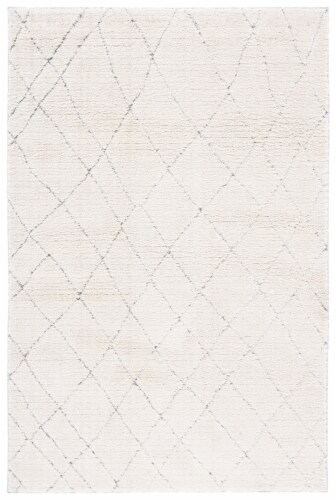 Martha Stewart Collection Lucia Shag Rug - Light Gray/White Perspective: front