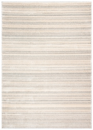Safavieh Martha Stewart Collection Lucia Shag Stripe Accent Rug - Light Gray/White Perspective: front