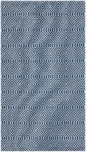 Safavieh Martha Stewart Cotton Area Rug - Blue / Gray Perspective: front