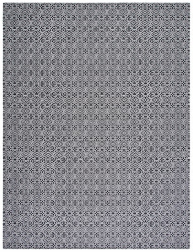 Safavieh Martha Stewart Cotton Area Rug - Charcoal/Gray Perspective: front