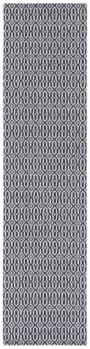 Martha Stewart Cotton Floor Runner Rug - Charcoal/Gray Perspective: front