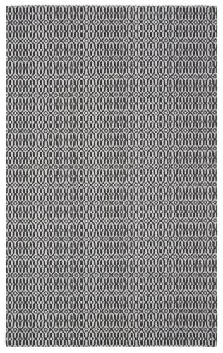 Martha Stewart Cotton Area Rug - Charcoal/Gray Perspective: front