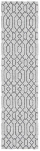 Safavieh Martha Stewart Cotton Floor Runner Rug - Silver/Gray Perspective: front