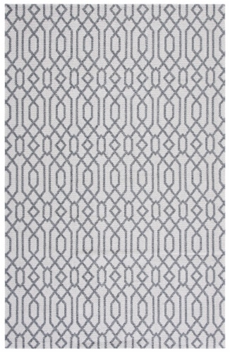 Martha Stewart Cotton Accent Rug - Silver/Gray Perspective: front