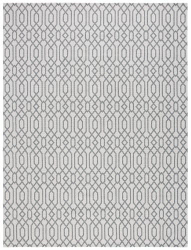 Martha Stewart Cotton Area Rug - Silver/Gray Perspective: front