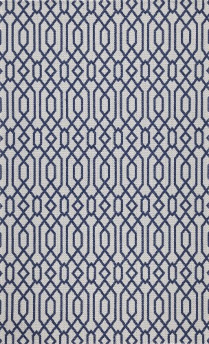 Martha Stewart Cotton Accent Rug - Blue/Gray Perspective: front