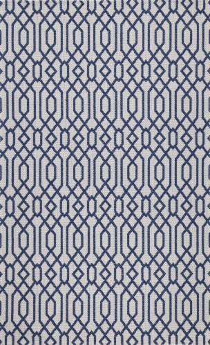 Martha Stewart Cotton Area Rug - Blue/Gray Perspective: front