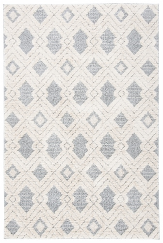 Safavieh Martha Stewart Collection Lucia Shag Accent Rug - White/Light Gray Perspective: front