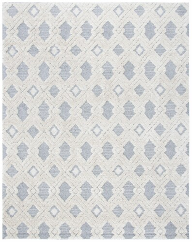 Safavieh Martha Stewart Collection Lucia Shag Area Rug - White/Light Gray Perspective: front