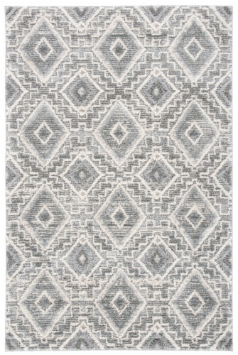 Martha Stewart Collection Lucia Shag Accent Rug - Dark Gray/Light Gray Perspective: front