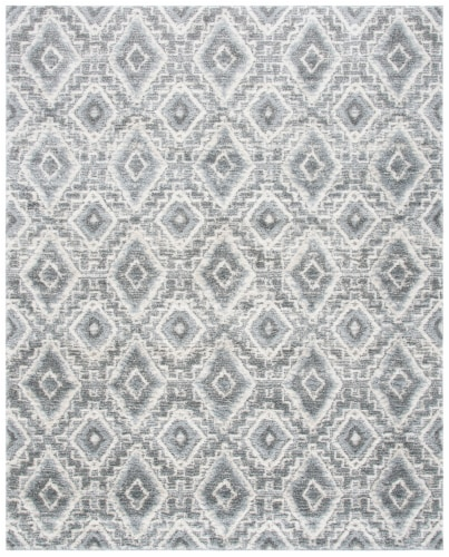 Martha Stewart Collection Lucia Shag Area Rug - Dark Gray/Light Gray Perspective: front