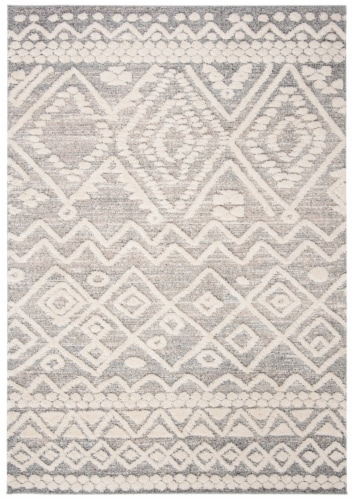 Safavieh Martha Stewart Collection Lucia Shag Accent Rug - Beige/White Perspective: front