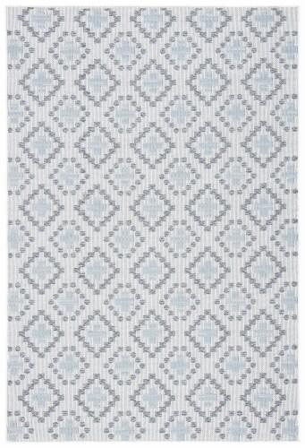 Safavieh Martha Stewart Courtyard Indoor Outdoor Floor Runner - Ivory / Gray Perspective: front