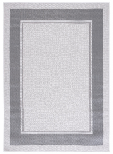 Safavieh Martha Stewart Courtyard Indoor Outdoor Square Area Rug - Ivory / Grey Perspective: front