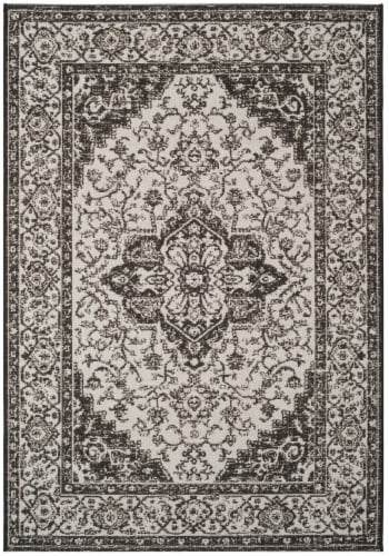 Safavieh Martha Stewart Beach House Indoor / Outdoor Area Rug - Light Gray / Charcoal Perspective: front