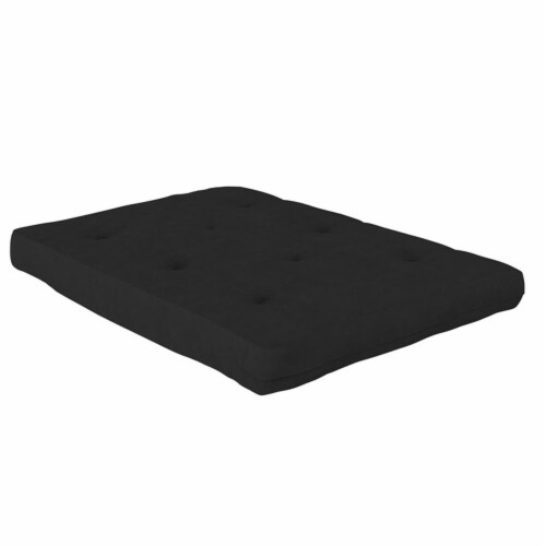 Pemberly Row 8 Inch Futon Mattress in Black Perspective: front