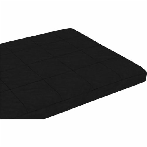 Pemberly Row 6 Inch Quilted Futon Mattress Full in Black Perspective: front