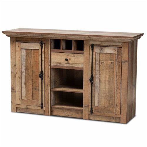Bowery Hill Finished Wood 2-Door Dining Room Sideboard Buffet Perspective: front