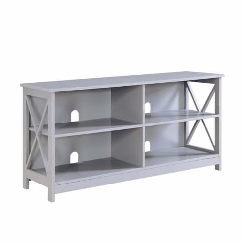 Pemberly Row 50  TV Stand in Gray Perspective: front