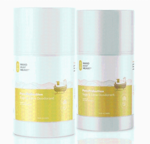 Pure Protection Sage & Lime Deodorant-2 Pack Perspective: front