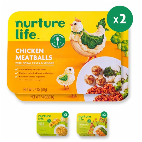 Nurture Life Healthy Toddler & Kid Food Picky Eater 5-Meal Variety Pack, Organic Focus Perspective: front