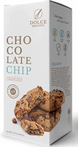 Dolce Biscotti Vegan, Gluten Free, Allergen Free Chocolate Chip Cookies - 6.77 oz each unit Perspective: front