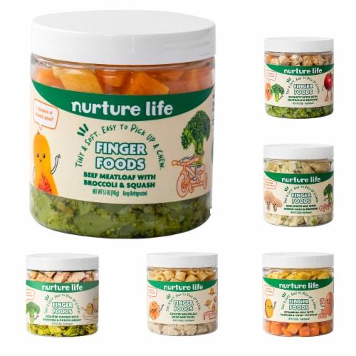 Nurture Life Baby & Toddler Finger Food Favorites 5-Meal Variety Pack, Fresh Baby Food Perspective: front