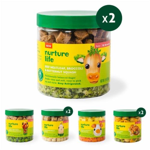 Nurture Life Baby & Toddler Finger Food Favorites 8-Meal Variety Pack, Fresh Baby Food Perspective: front