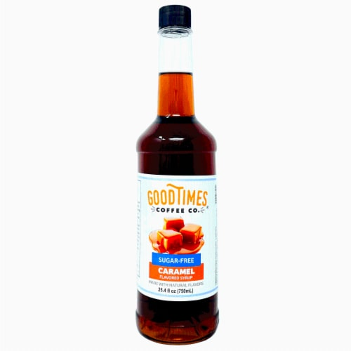 Sugar Free Caramel Syrup, Natural Flavor, Vegan, Gluten-Free, No Artificial Colors 25.4 Fl Oz Perspective: front