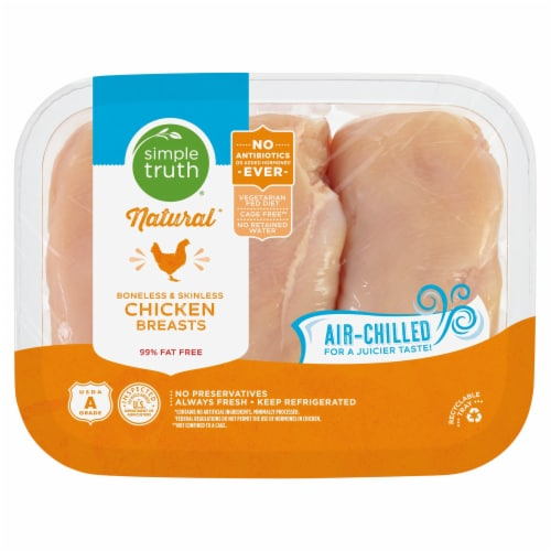 Simple Truth Natural Air-Chilled Boneless Skinless Chicken Breast Perspective: front