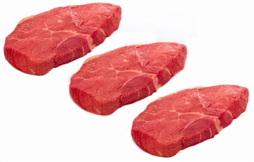 Beef Select Boneless Top Sirloin Steak Value Pack (3 Pack) Perspective: front