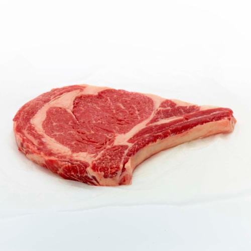 Beef Choice Bone-In Ribeye Steak Perspective: front